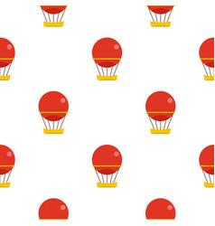 Red aerostat balloon pattern seamless vector