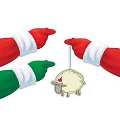 Santa hands vector