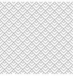 Seamless geometric pattern black on white vector