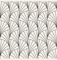 Seamless vintage pattern of overlapping arcs in vector