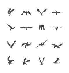 Set of eagles vector