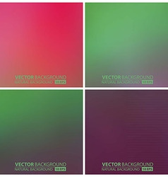 set of green backgrounds vector image