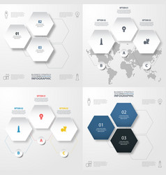 set of modern infographics template for business vector image