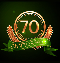 seventy years anniversary celebration design vector image