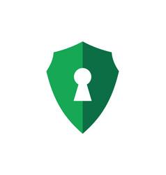 shield lock protection guard logo icon vector image