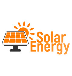 solar battery logo and icon energy label for web vector image