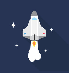 spacecraft icon set of great flat icons with vector image