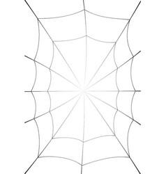 Spider web cartoon black cobweb element isolated vector