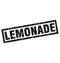 Square grunge black lemonade stamp vector