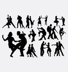 tango salsa dance silhouette vector image