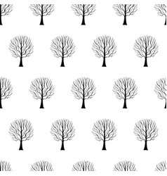Tree hand drawn patterns uneven-05 vector