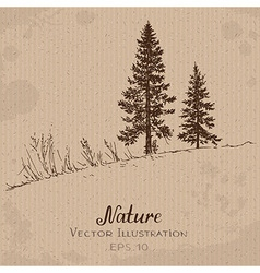 Two Fir-Trees vector