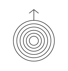 uranus line icon vector image