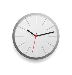 Wall clock face watch icon isolated vector