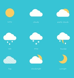 Weather icons modern flat creative info graphics vector image