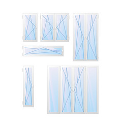 window ans door types of opening vector image