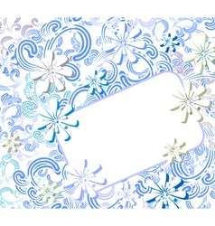 winter flowers background vector image