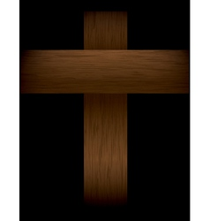 Wooden Cross in the Shadows vector image vector image