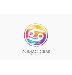 Zodiac crab logo Crab symbol Zodiac symbol vector image