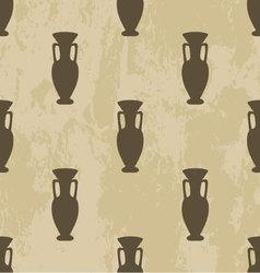 Arabic seamless pattern vase vector
