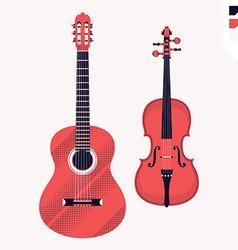 Violin and Guitar Icon vector image vector image