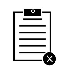 cancel form icon on white background cancel form vector image vector image