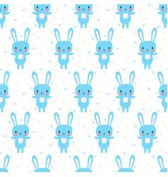 cute seamless pattern with cartoon bunny cartoon vector image