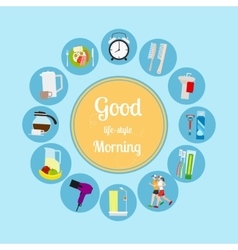Good morning new day background vector image