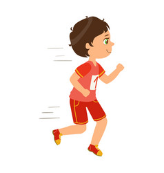 little boy running boy in motion a colorful vector image vector image