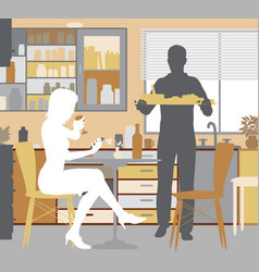 mealtime at home vector image