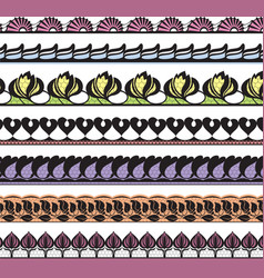 set of openwork lace vector image vector image