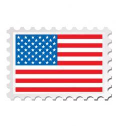 us flag card vector image