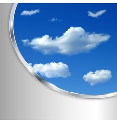 Abstract background with sky and clouds vector image
