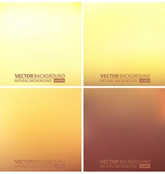 Abstract smooth blurred backgrounds set vector image vector image