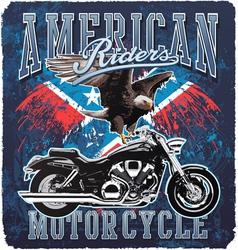 American Motorcycle rider vector image