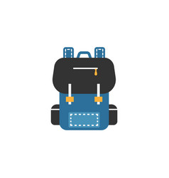 backpack flat icon education and school element vector image