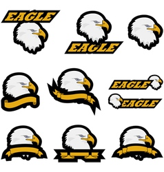Eagle icons vector image