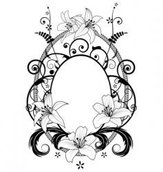 frame with lilies vector image vector image
