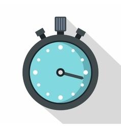 Metallic stopwatch icon flat style vector image vector image