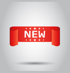 New ribbon icon discount new arrival sticker vector