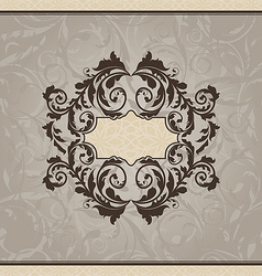 Revival ornamental card or invitation vector image vector image