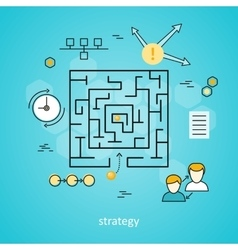Strategy Business Background vector image vector image