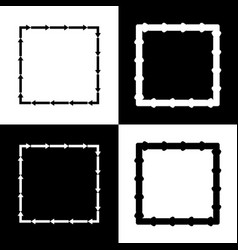 arrow on a square shape black and white vector image