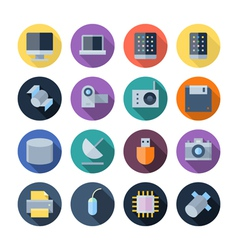 Flat Design Icons For Technology and Devices vector image vector image