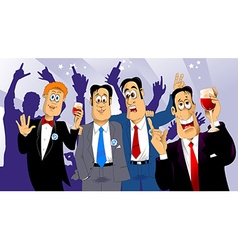 four friends vector image vector image
