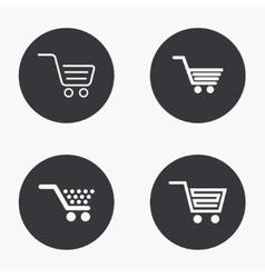 modern shopping icons set vector image vector image