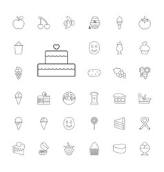 33 sweet icons vector