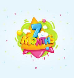 7 months baby vector