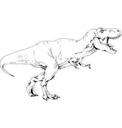 A large carnivorous dinosaurattacks vector