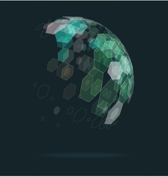 Abstract ball geometric shapes vector